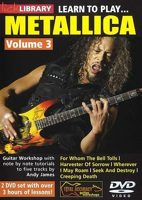 LICK LIBRARY Learn to Play METALLICA For Whom the Bell Tolls GUITAR DVD Vol 3