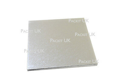"8 10 12 14 16"" Inch Square Silver Cake Drum 12mm 1/2"""