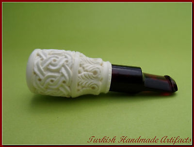 CIGAR HOLDER Meerschaum Smoking Pipes Tobacco Pipa Pfeife 38-40 RING SIZE (1201)