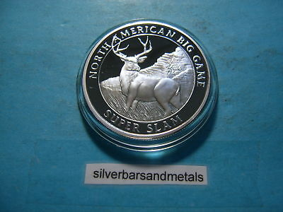 Mule Deer Super Slam Hunting Club 999 Silver Coin Round Sharp Cool