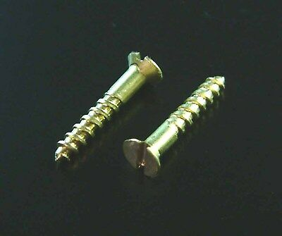 "Expo A32007 Pack of 20 3g x 3/8"" Brass Wood Screws New"