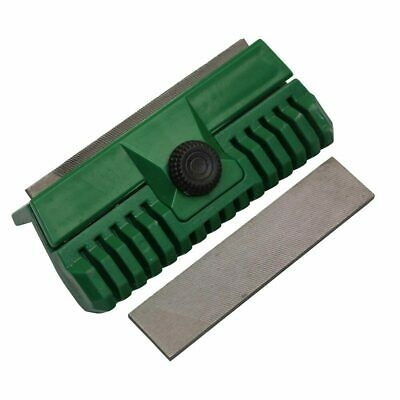 Chainsaw Chain Guide Bar Rail Dresser File Repairer Tool with 2 Files
