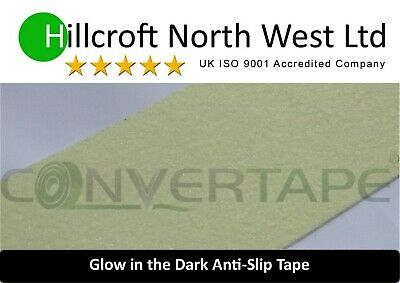 50mm x 1m Self Adhesive Photoluminescent Luminous Glow In The Dark Tape Safety