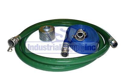 """2"""" Trash Pump Water Suction 50ft Discharge Hose w/Camlock"""