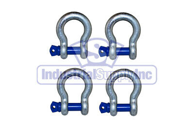 """1/2"""" (4-pk) ALLOY Screw Pin Clevis Anchor Shackle"""