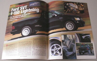 1999 Ford F-150 Svt Lightning Car & Driver Reprint 5.4