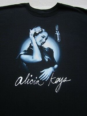 ALICIA KEYS diary 2005 tour 2XL concert T-SHIRT xxl