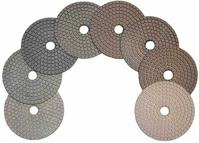 "STADEA 4"" Diamond Polishing Pads Grit 100 Wet/Dry Stone"