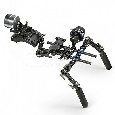 TiLTA TT-03-TL HDSLR Follow Focus System Offset Shoulder Rig w/ Counter Weight