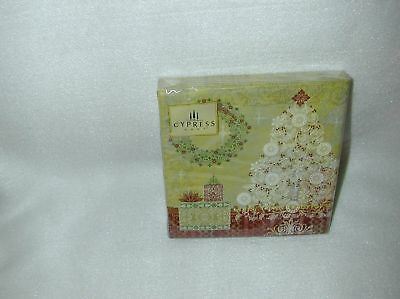 Cypress Holiday Elegance 20 Paper Cocktail Napkins-New