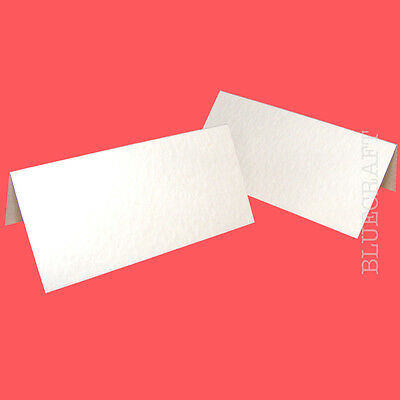 125 x Place Name Cards White Hammer Embossed - Wedding