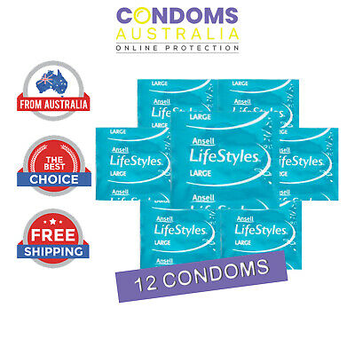 Ansell Lifestyles Large (12 Condoms) FREE SHIPPING