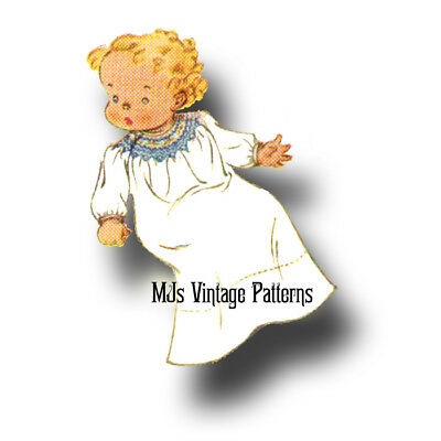 Vintage 1930s Baby's Smocked Dress Pattern ~ sz Infant