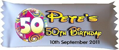 50 x Personalised Sweets 50th Birthday Party Favour