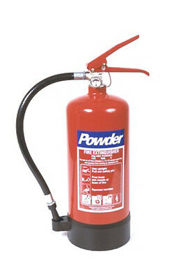LARGE 4kg DRY POWDER FIRE EXTINGUISHER FOR WOOD GAS LIQUIDS - NEW