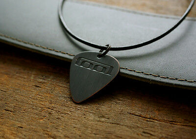 Hand Made Etched Copper Guitar Pick Necklace Tool Logo