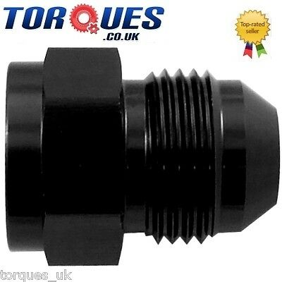 AN -6 Female AN-10 Male Straight Expander Adapter Black