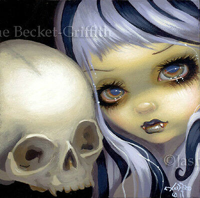 Fairy Face 91 Jasmine Becket-Griffith SIGNED 6x6 PRINT vampire cross faery