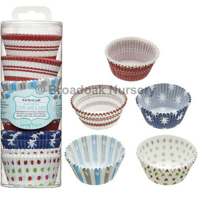 250 ASSORTED CUPCAKE CASES Patterned Fairy Cake Bun Muffin Baking