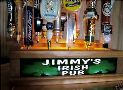 Personalized Lighted IRISH PUB 18 beer tap handle display