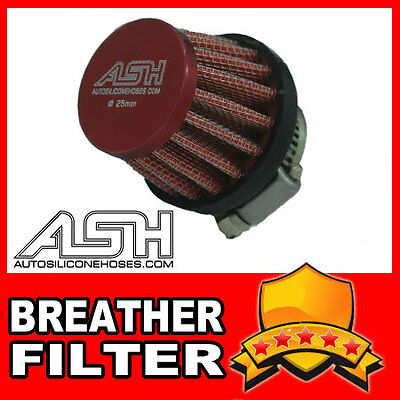 Universal Air Breather Filter Red 12mm Neck Car Small R