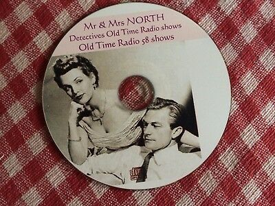 Mr & Mrs NORTH Detectives Old Time Radio shows Mp3 CD OTR