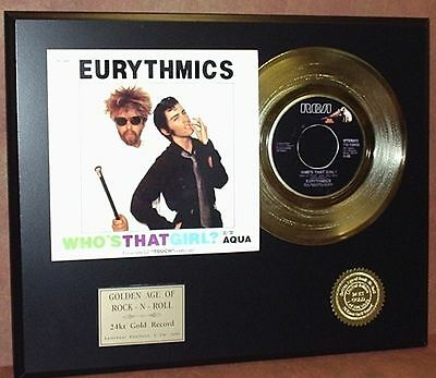 Eurythmics - Who's That Girl - 24k Gold Record Limited Edition Free USA Shipping