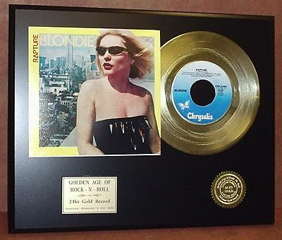 Blondie - Rapture - 24k Gold Record Display Limited Edition - Free USA Shipping