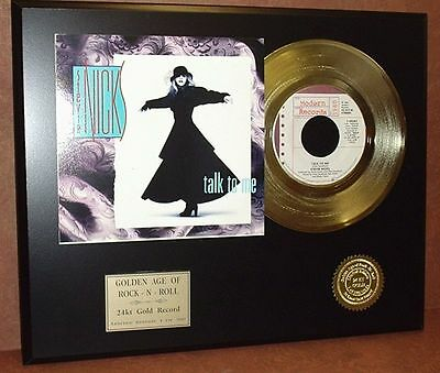 Stevie Nicks Talk To Me - 24k Gold Record Limited Edition Display USA Ships Free