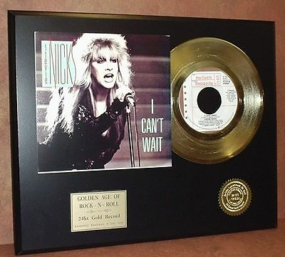 Stevie Nicks - I Can't Wait - 24kt Gold Record Limited Edition Free USA Shipping