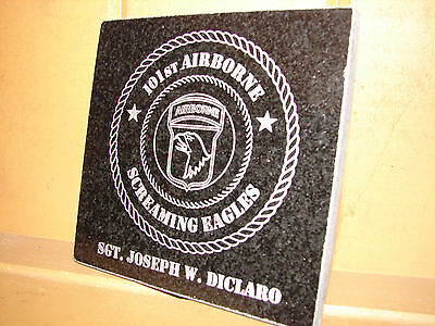 Stone Personalized Laser Tribute Plaque Gifts Awards V