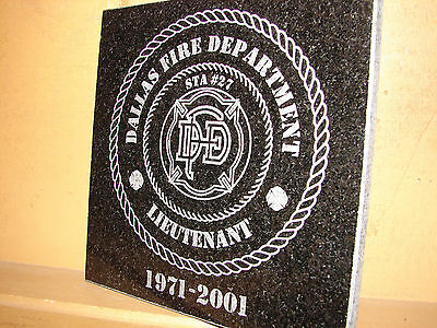 Stone Personalized Laser Tribute Plaque Gifts Award VII