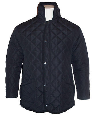 Boys School Hunting Quilted Padded Jacket Black Coat