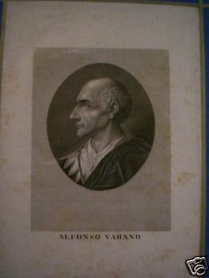 Alfonso Varano Incisione Di Locatelli '700