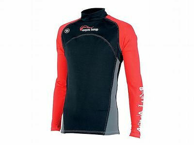Aqualung Rash Guard RedNight Langarm, UV-Schutz Lycra Shirt, UV-Shirt