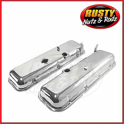 65-72 Chevelle SS Big Block Chevy Chrome Valve Covers with Oil Drippers