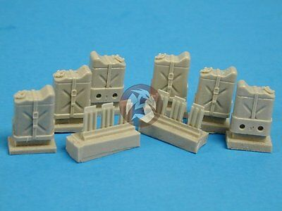 Tank Workshop 1/35 US G.I. Gas Cans Jerrycans in Trays w/Straps (6 pcs.) 350097