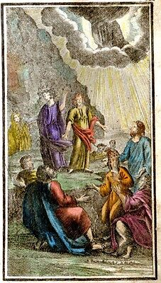 "Herlet's ""Life of Jesus"" Hand-Colored Woodcut -1746- IN THE GARDEN OF GESTHENEME"