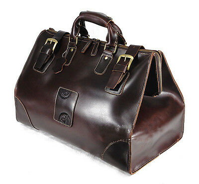 Men's VINTAGE LEATHER Travel Luggage Bag Duffle Gym Carry On Overnighter Weekend