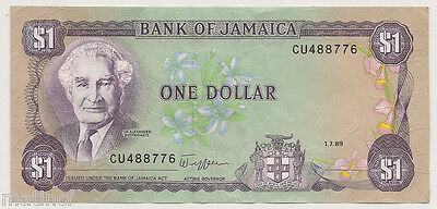 Bank of Jamaica $1 Bank Note ..1.7.89