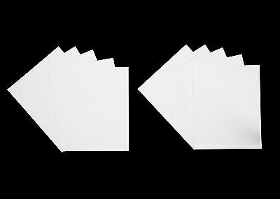 Pack of 10 Mount Backing Card - White, Black or Cream