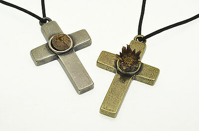 Incredible Rose Of Jericho  Blessed Holy Land  Christian Cross Pendant Gift