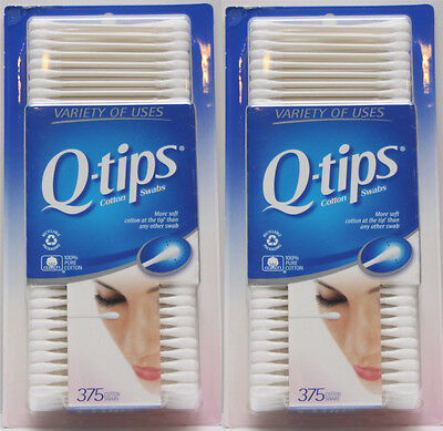 Q-tips Cotton Swabs 100% Pure Cotton (2 Pack) = 750 Two sides Swabs Qtips Q tips
