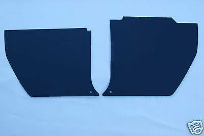 HQ (Early pre 10/73) HOLDEN Kick Panels Black (pair) Inc 2 Trim Buttons