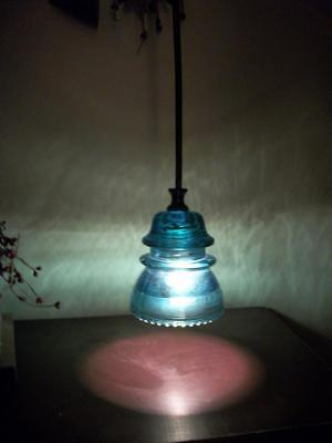 RAILROAD LIGHT Fixture Stunning Glass Insulator Pendant Light~U CHOOSE OPTIONS