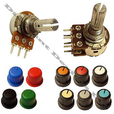1K - 1M ohm Lin Linear Log Logarithmic Mono Stereo Pot Potentiometer Or Knobs