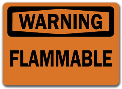 "Warning Sign - Flammable    - 10"" x 14"" OSHA Safety Sign"