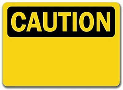 "Caution Sign - Caution - 10"" x 14"" OSHA Safety Sign"