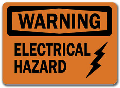 "Warning Sign - Electrical Hazard  - 10"" x 14"" OSHA Safety Sign"