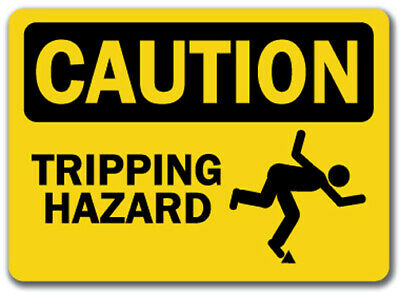 "Caution Sign - Tripping Hazard - 10"" x 14"" OSHA Safety Sign"